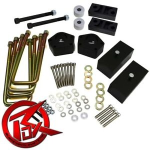 Fits 86 95 Toyota Pickup T100 3 Front 2 Rear Lift Kit 4wd Diff Drop Spacers