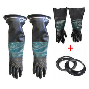 Glove Holder And Pair Gloves Set For Sand Blasting Cabinet Blast Cabinets