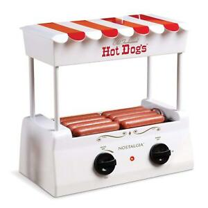 Hot Dog Roller Vintage Collection Red Cooker Electric Grill Bun Rolling Machine