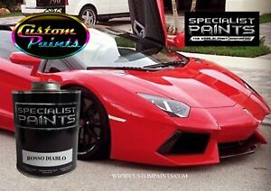 Gallon Of Lamborghini Rosso Diablo Auto Paint Automotive Hok Ppg Dupont