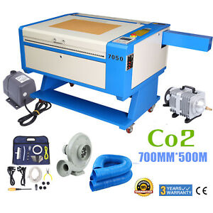 80w Co2 Usb Port Laser Engraving Cutting Machine 700x500mm Water Pump Air Pump