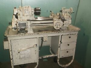 Heavy 10 South Bend Lathe 10 X 24 On Cabinet With Video Of Running