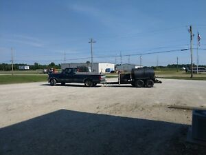 Sealcoat Trailer 550 Gallon With Hot Crack Melter 4 New Tires And Spare