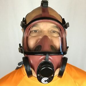Full Face Mask Dual Port Respirator Paint Pesticide Chemical Hazmat