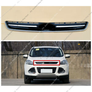 Abs Chrome Front Bumper Middle Upper Grille Trim J Fit For Ford Escape 2013 16
