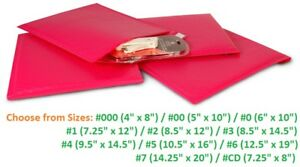 Poly Bubble Mailers 000 00 0 1 2 3 4 5 6 7 Padded Envelopes Hot Pink