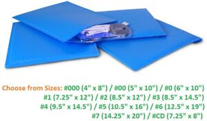 Poly Bubble Mailers 000 00 0 1 2 3 4 5 6 7 Padded Envelopes Blue