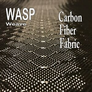 1 Meter X 25 Ft Wasp Carbon Fiber Fabric 3k Tow 220g m2 Wasp Hive Weave