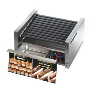Star 30cbd Grill max 30 Hot Dog Roller Grill W Bun Drawer