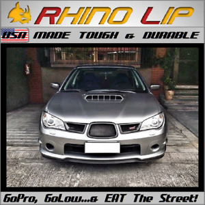 Subaru Wrx Sti Rubber Front Valance Add On Trim Chin Lip Under Spoiler Splitter