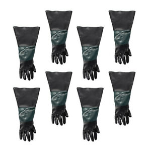 8x 60cm Heavy Duty Sandblasting Work Gloves Left For Sand Blaster Cabinet