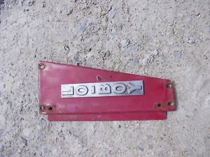 Farmall Cub Low Boy Tractor Good Original Ih Radiator Left Side Panel
