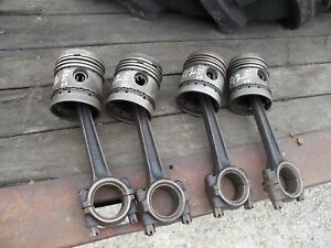 Mccormick Farmall F12 F14 Tractor Ih Engine Motor 4 Pistons Rings Rod Piston 1