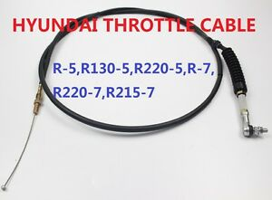 Excavator Parts Hyundai Throttle Cable Throttle Motor Cable Line