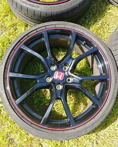 2018 Honda Civic Type R Wheels Rims Tires Mint 5x120 Factory Oem