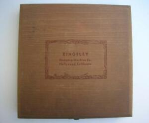Kingsley Hot Foil Stamping Machine Type Letters Box Possibly Goudy Old Style