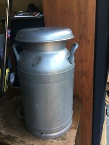 Buhl Ohio Stainless Steel Milk Can Jug 5 Gal 20 Qt Sealed Lid
