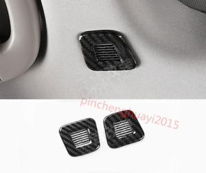 2pcs Carbon Fiber Microphone Decorative Cover For Jeep Grand Cherokee 2014 2018