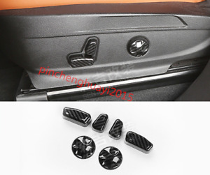 Carbon Fiber Inner Seat Handle Button Cover Trim For Jeep Grand Cherokee 2014 18
