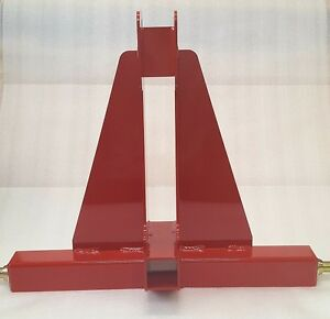 3 point Receiver Hitch red