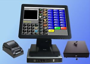 15 Point Of Sale Pos System Register Touch Screen Restaurant Retail Bar