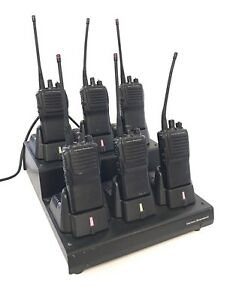 Vertex Standard Vx 231 g7 Uhf Portable 2 way Radio Six Radio Bundle With Rack