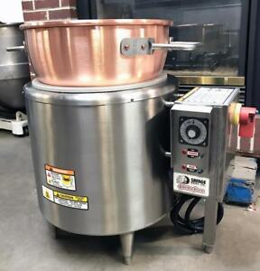 Savage Bros 0100 Bakery Equipment Electric Candy Stove With New Copper Kettle