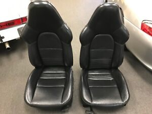 Porsche 996 Gt3 Sport Seats Black Hard back Custom Painted Backs