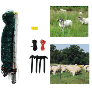 Poultry Electric Net Fence Goat Sheep Chicken Pig Outdoor Large Cage 35 Hx164l