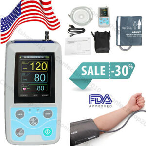 24h Nibp Holter Ambulatory Blood Pressure Monitor Adult With Pc Sw Fda Ce Fedex
