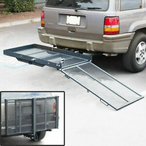 Trailer Hitch Folding Wheelchair Scooter Carrier Disability Rack W Loading Ramp
