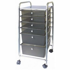 Advantus Storage Studios Home Center Rolling Cart With 6 Drawers 15 25