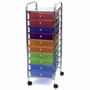 Advantus Storage Studios Home Center Rolling Cart With 10 Drawers 15 25