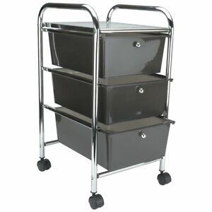 Advantus Storage Studios Home Center Rolling Cart With 3 Drawers 15 25