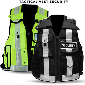 Hi Viz Security Tactical Vest Industrial Safety Vest Hi Visibility New