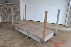 Vintage Industrial Factory Warehouse Railroad Factory Cart Cast Iron