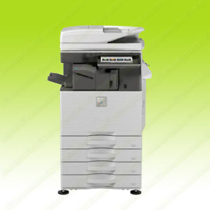 Sharp Mx 3070v Color Tabloid Copier Printer Scanner Finisher Fn27 30ppm