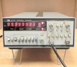 Hp 5316a 100 Mhz Universal Frequency Counter Option 001 Tcxo With Manual