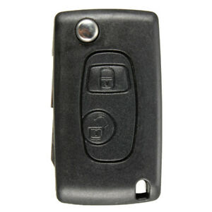 Remote Flip Key Fob Case Blade Conversion For Peugeot 206 Replacement