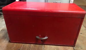 Vintage Usa Made Snap On Red Mechanics 9 Drawer Tool Box Chest