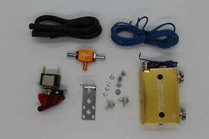 Gold Dual Stage Electronic Turbo Turbocharger Psi Boost Controller Kit W Switch