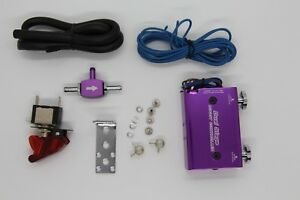 Purple Dual Stage Electronic Turbo Turbocharger Psi Boost Controller Kit Switch