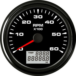 New Style 85mm 0 6000rpm Tachometer Rev Counter With Odo Hour Meter 8 Backlight