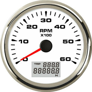 New Arrival 85mm Tachometer 0 6000rpm Instrument Sender With Lcd Trip Hour Meter
