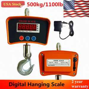 Lcd Digital Crane Scale 500 Kg 1100 Lbs Heavy Duty Industrial Hanging Scale