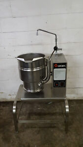 Groen Tdb 20 Steam Jacketed Manual Tilt Kettle 20 Quart Qt 208v Tested Faucet