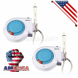 2 dental Ultrasonic Piezo Scaler With Handpiece Tips Fit Ems woodpecker Cn pk1