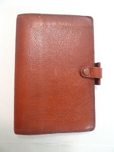 Filofax Vintage personal Size made England For Barneys New York leather