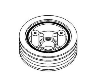 Ar57241 Pulley With Dampener For John Deere 4040 4230 4240 4320 4430 Tractors