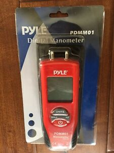 Pyle Pdmm01 Handheld 11 mode Digital Gas Pressure Meter Liquid Manometer New
